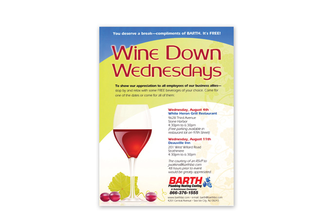 Winedown Flyer